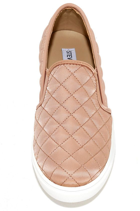 wholesale sleek united kingdom Ecntrcqt Blush Quilted Slip-On Sneakers | Slip on sneakers, Slip ...