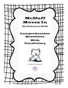 McDuff Moves In- Comprehension Questions with Vocabulary