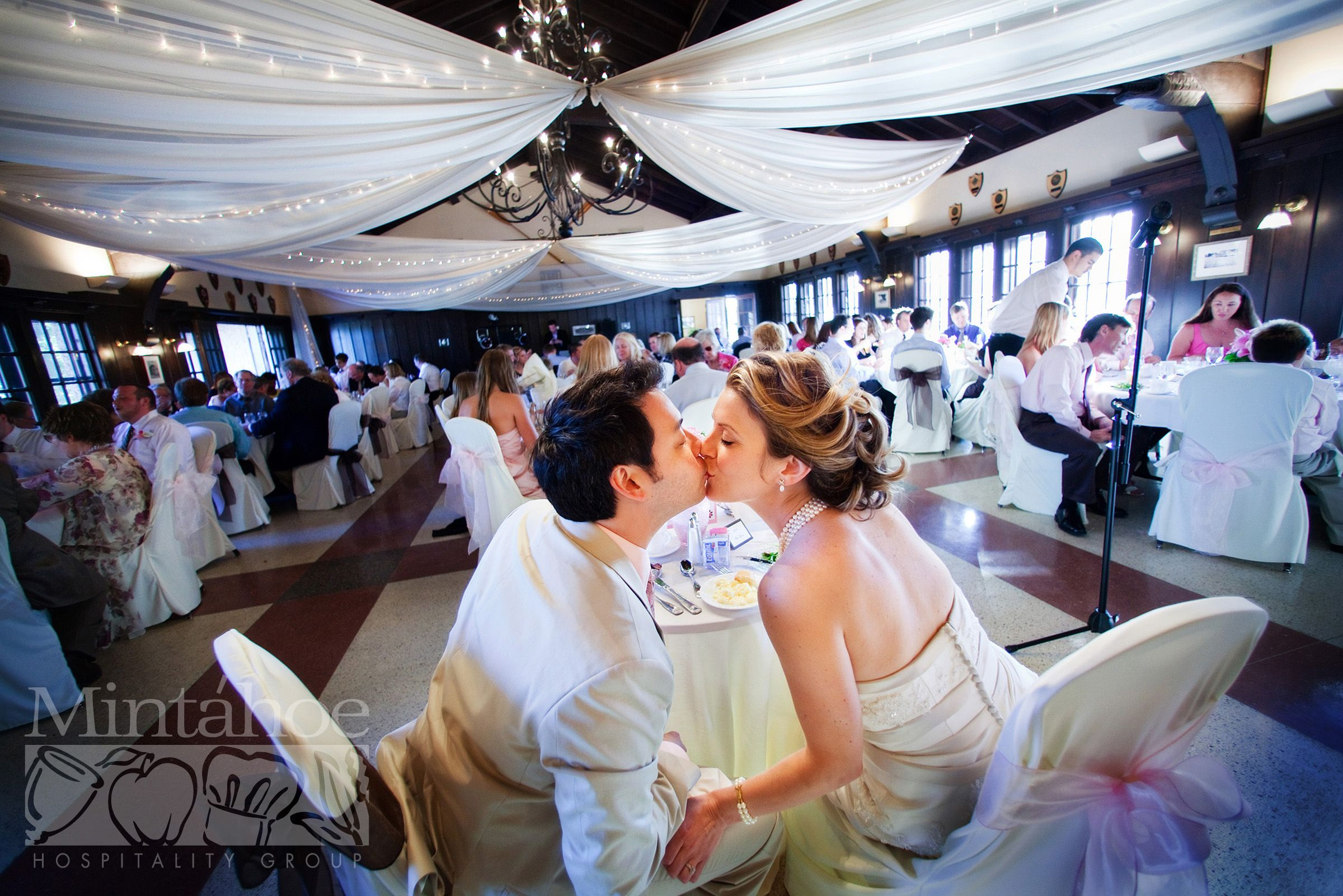 Weddings Ceiling D And Chair Covers Minnesota Boat Club On Raspberry Island