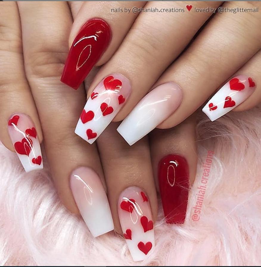 Photo of #valentines day nails acrylsarg 50 Pretty French Pink Ombre Und Glitzer Auf … … – BestBLog