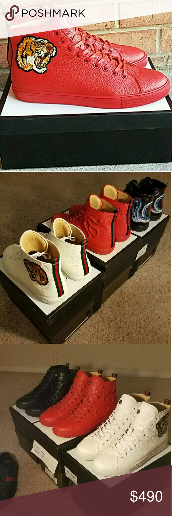 Men's Gucci HighTops New Men's Gucci HighTops New Size