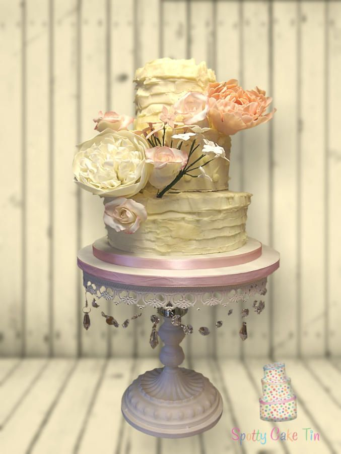 Rustic Buttercream Wedding Cake By Shell At Spotty Cake Tin    Http://cakesdecor