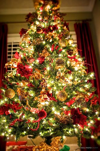 The Christmas Tree Is Decorated Christmas Decorations Christmas Tree Christmas Lights