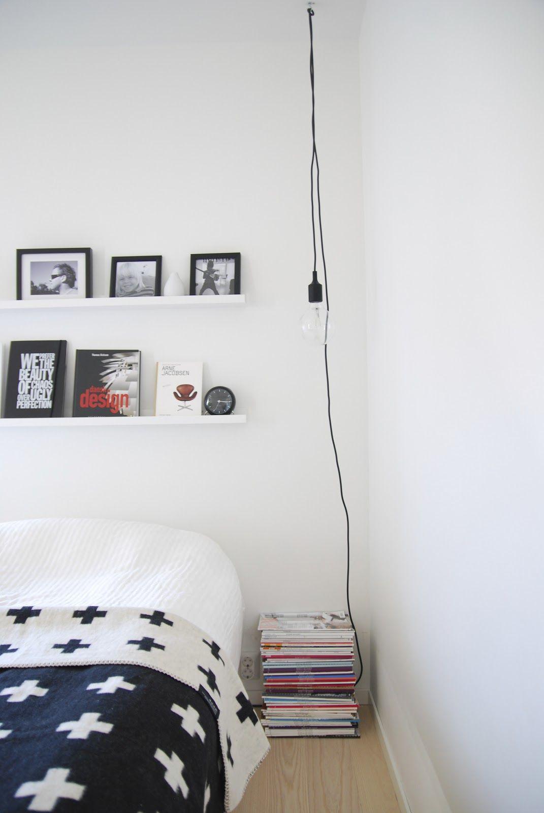 Via Fargebarn | Bedroom | Black and White | Pia Wallen Blanket