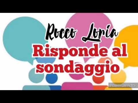 Rocco Loria risponde al sondaggio - YouTube
