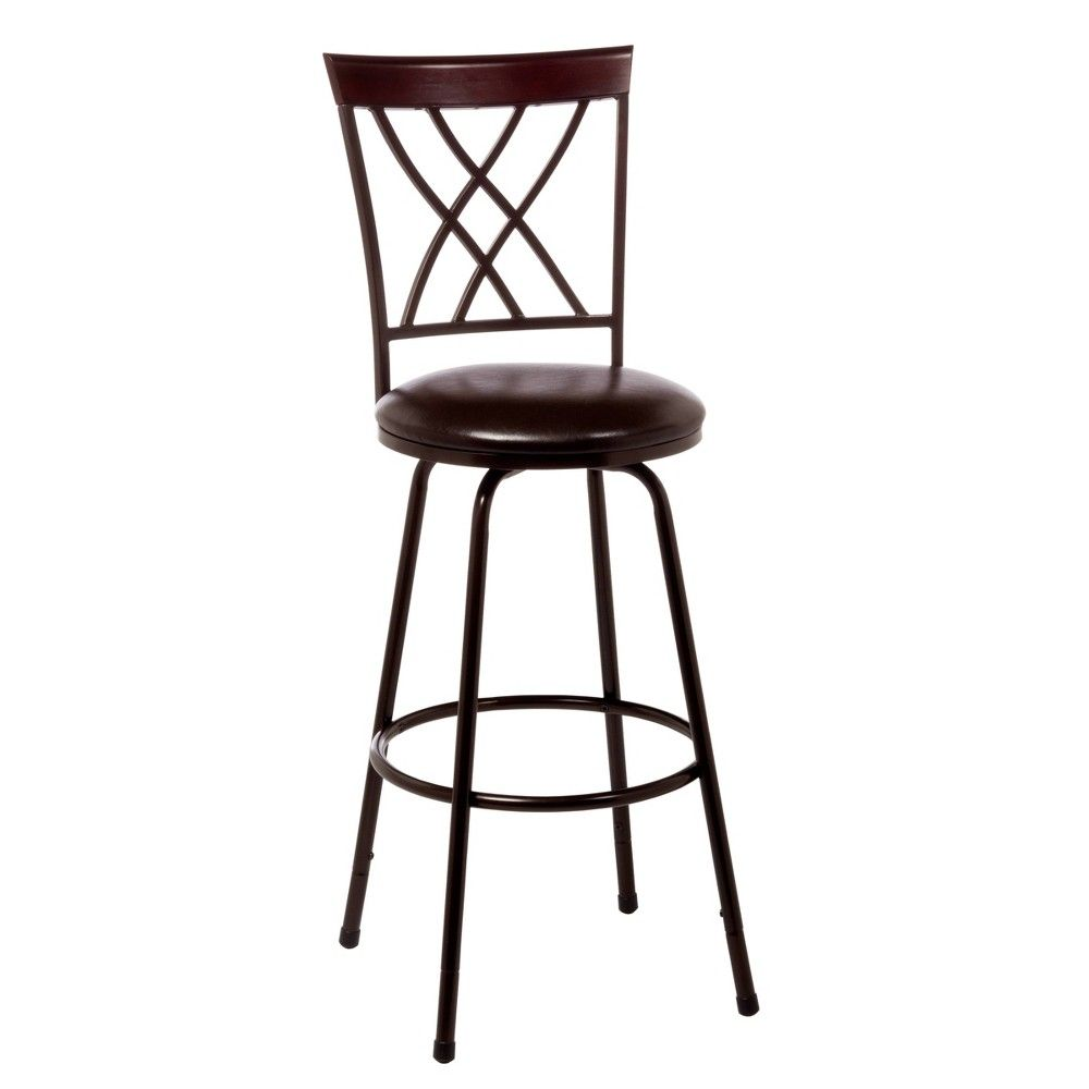 Northland Cherry Finished Top Rail Adjustable 30 Barstool
