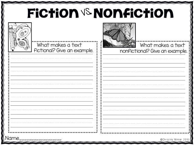 Fiction Vs Nonfiction Teaching Ideas With Images Nonfiction