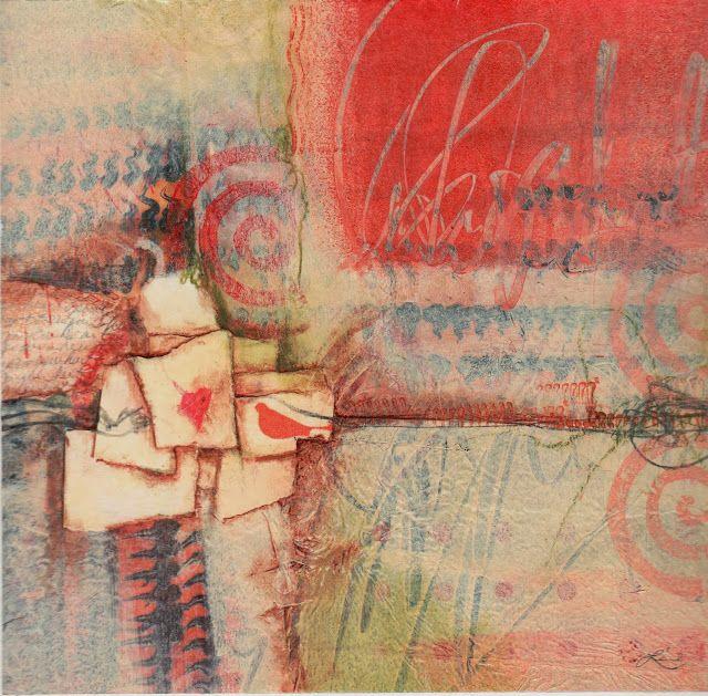 Collage art of Laura Lein-Svencner: Today's meditation,