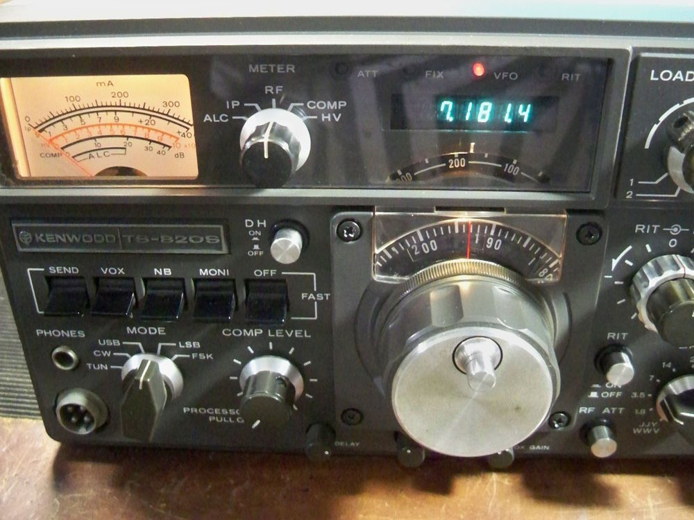 Kenwood Ts 820s Hf Ham Transceiver With Yg 88c Cw Filter 02
