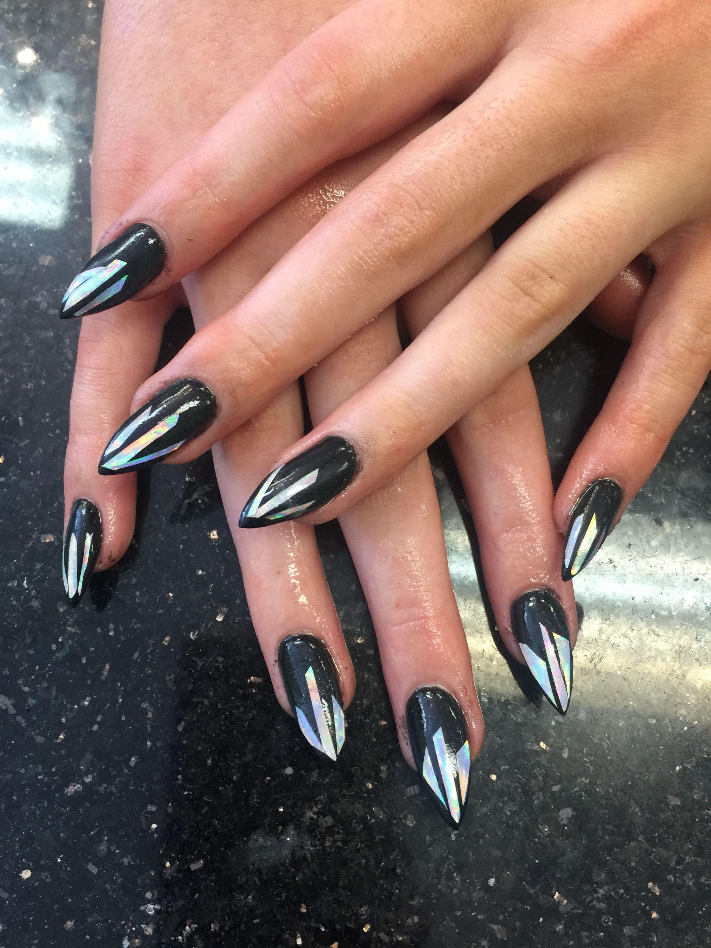 Black colors nails designs | Acrylic nail | Pinterest | Color nails ...