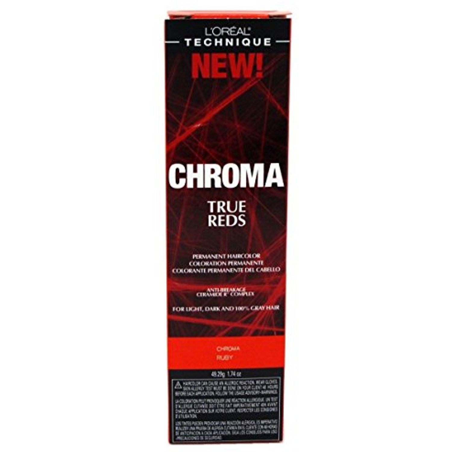 Loreal Chroma True Reds Hair Color Ruby 174 Ounce 51ml 3 Pack