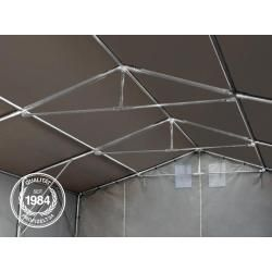 Photo of 6×8 m tent hall – 3.0 m side height with zipper gate, Pvc 720 g / m² toolport industrial tent