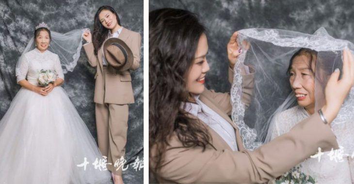 Hija se convierte en novio para cumplir el sueño de su