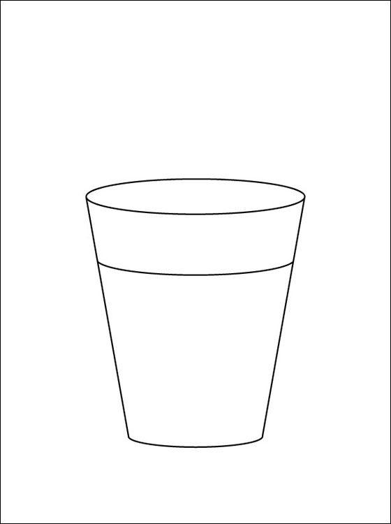 Coloriage verre a colorier coloriage imprimer gratuit - Dessin de verre ...