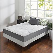 Zinus Night Therapy Memory Foam 10 Cloud Queen Mattress And Bifold Box Spring Set Queen Mattress Mattress Full Mattress