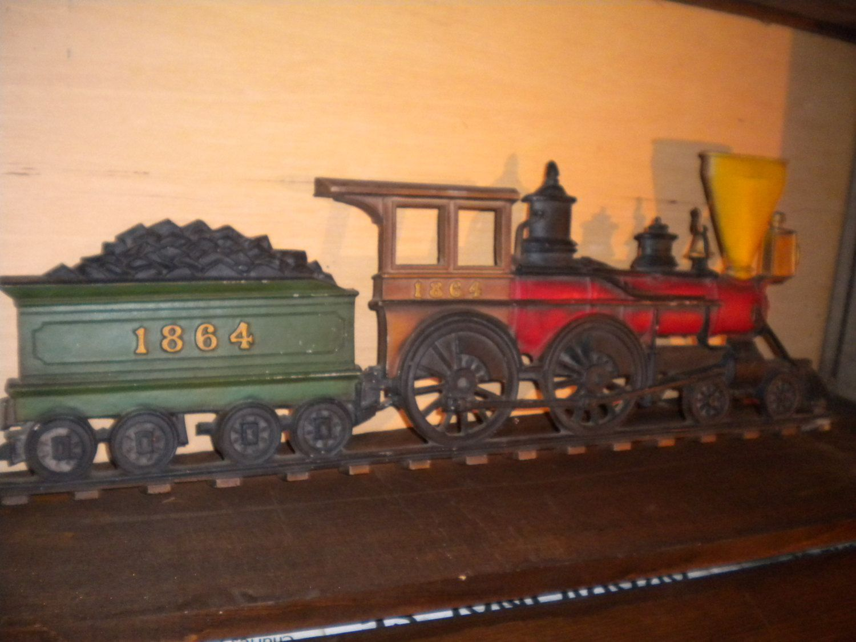 Vintage Wall Hanging 1960 S Sexton Cast Metal 1864 Locomotive
