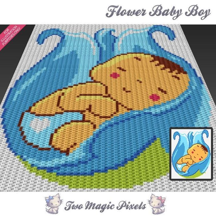 Flower Baby Boy C2c Crochet Graph Flower Patterns And Babies