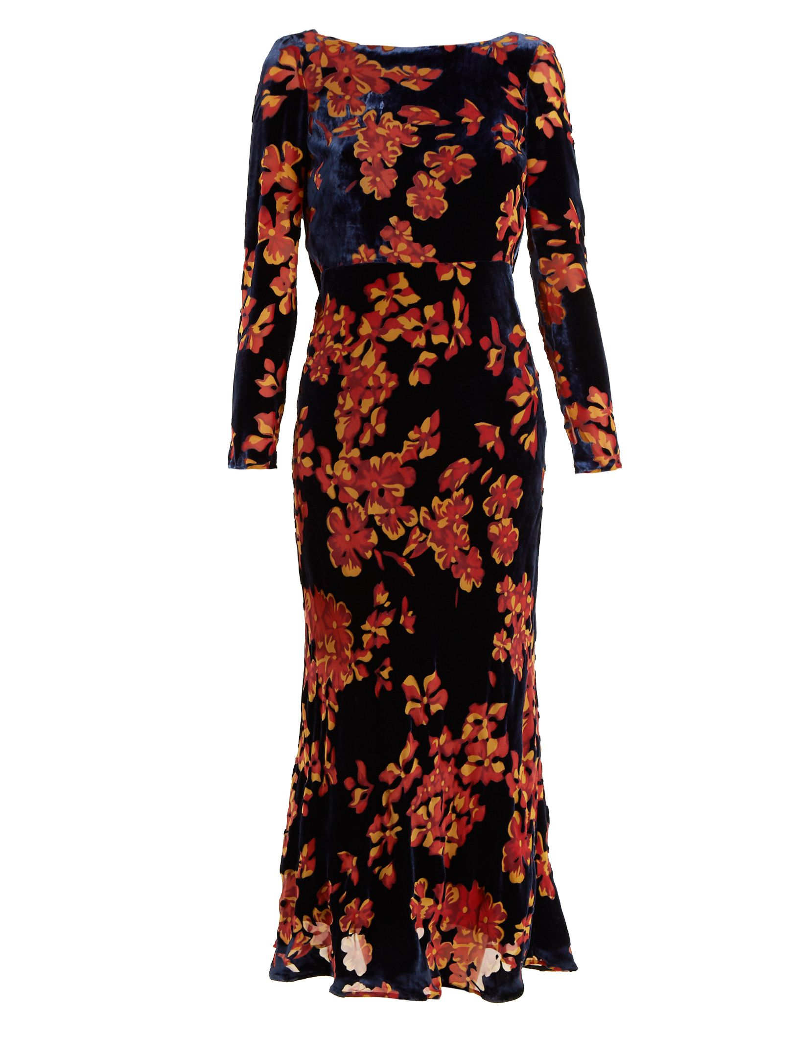 Boat-neck floral-print crepe dress Marni