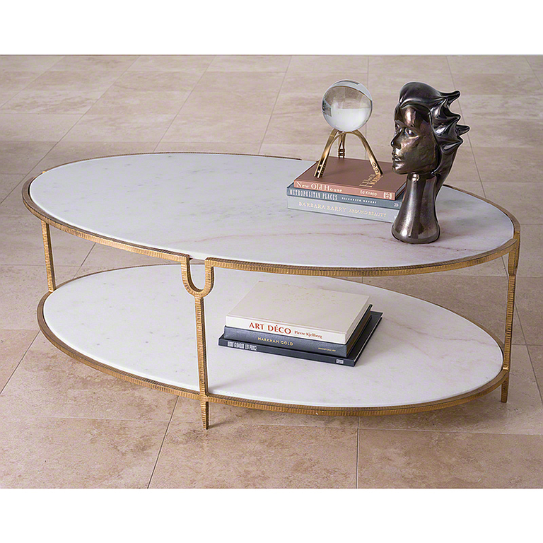 Gold Iron And Marble Coffee Table Mesas Centros De Mesa Centro