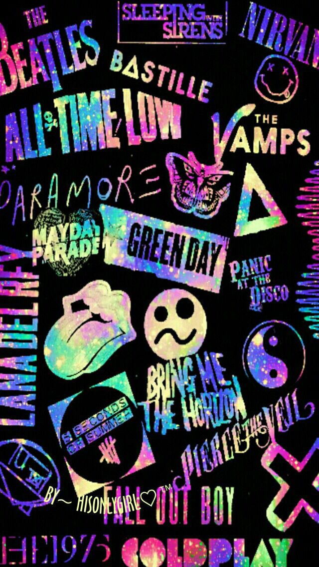 Awsome Bands And Singers Band Wallpapers Emo Wallpaper Neon Wallpaper