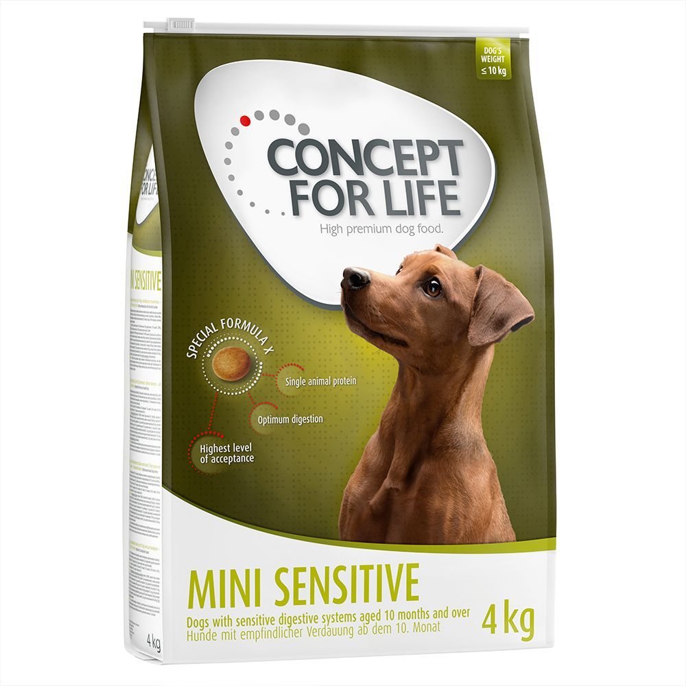 Animalerie Concept For Life Mini Sensitive Pour Chien 2 X 4 Kg
