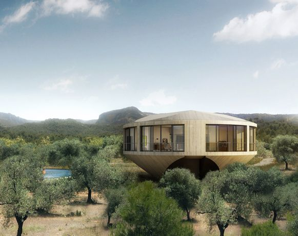 panoramic round house has a 360 degree view of the spanish countryside - Home Design Degree
