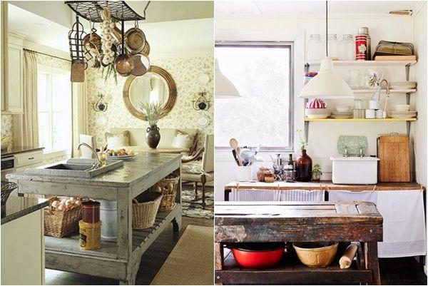 Cocinas con isla hechas con muebles reciclados como - Mesas hechas con cajas de madera ...