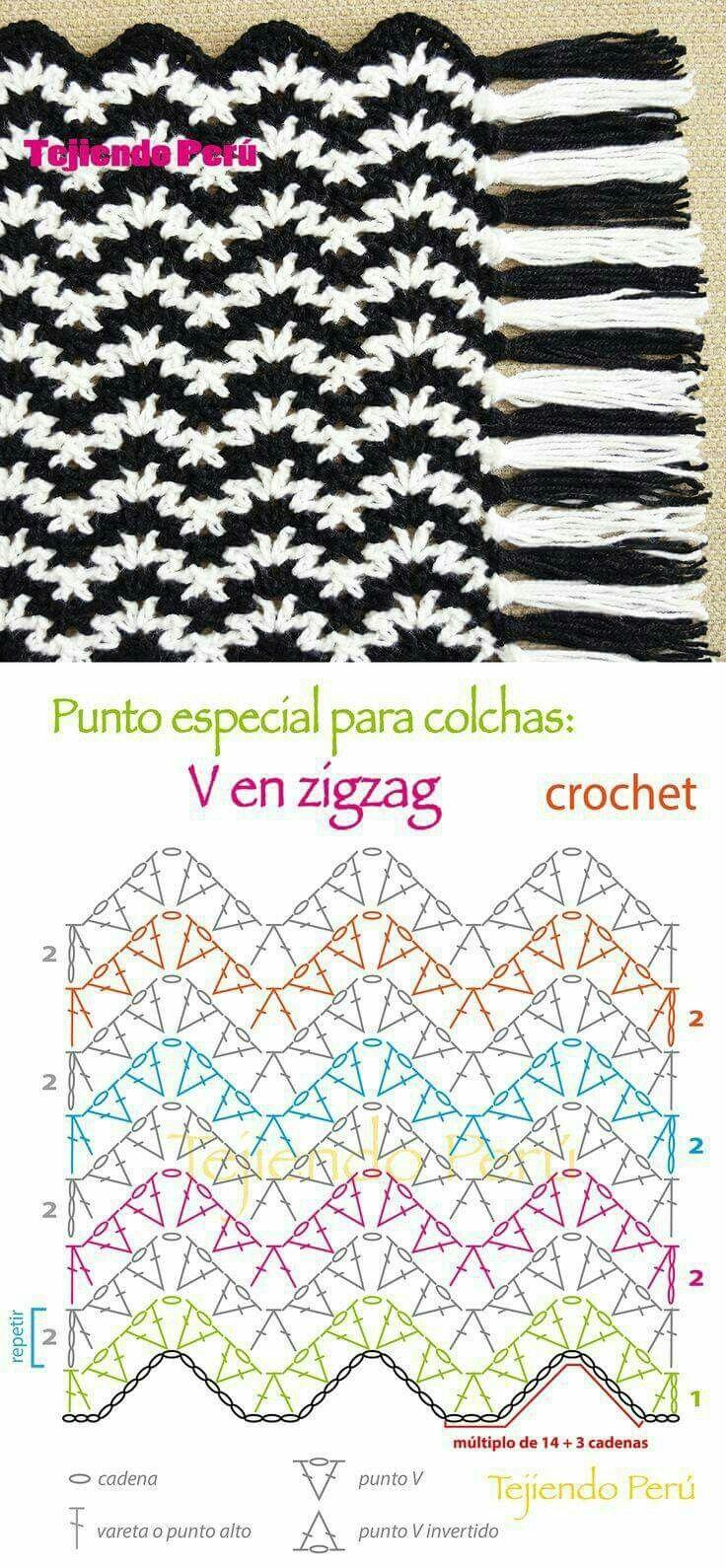Pin de Leedie Grace en Crochet Ripple Stitch   Pinterest
