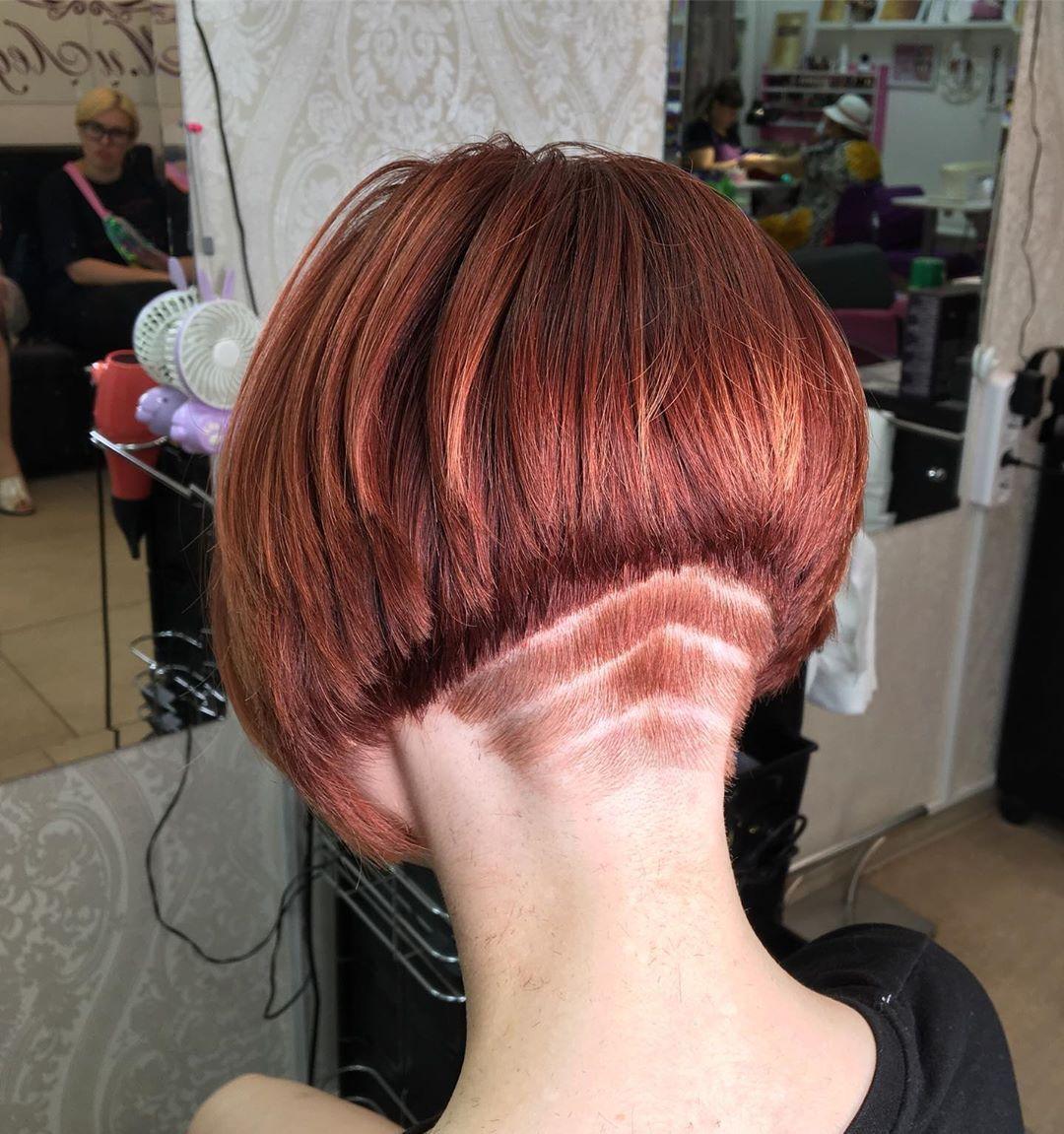 #hairdare #bob #undercut #napebuzz #angledbob #bobhaircut