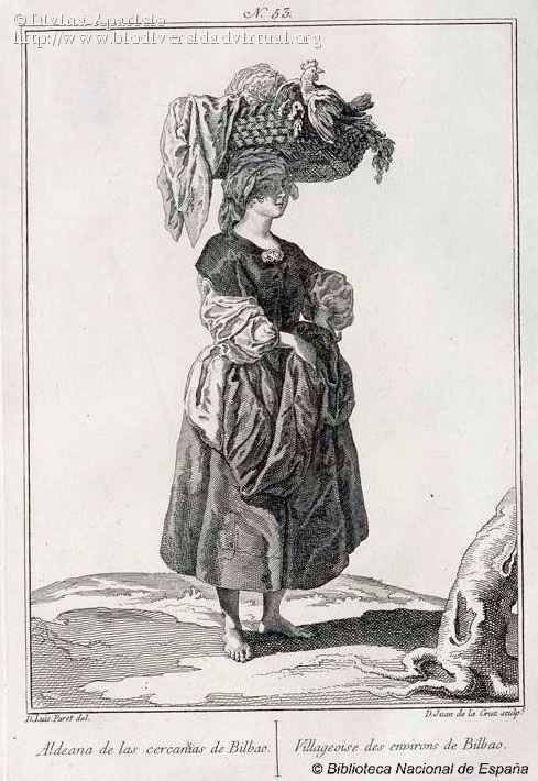 Traje de aldeana de las cercanías de Bilbao (1777)