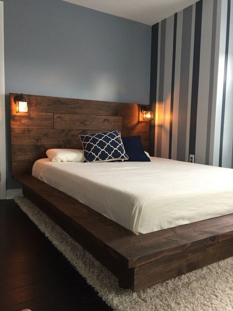 30+ Stunning Rustic Floating Style Bed Frame in Full Size