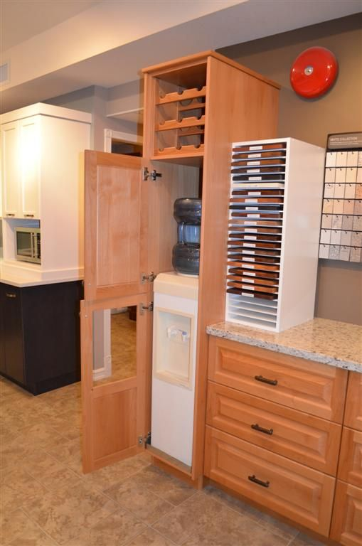 Opened The Door For You Now You Can See The Water Cooler Hidden Away Inside The Pantry Kitchen Furnishings Kitchen Built Ins Kitchen Layout