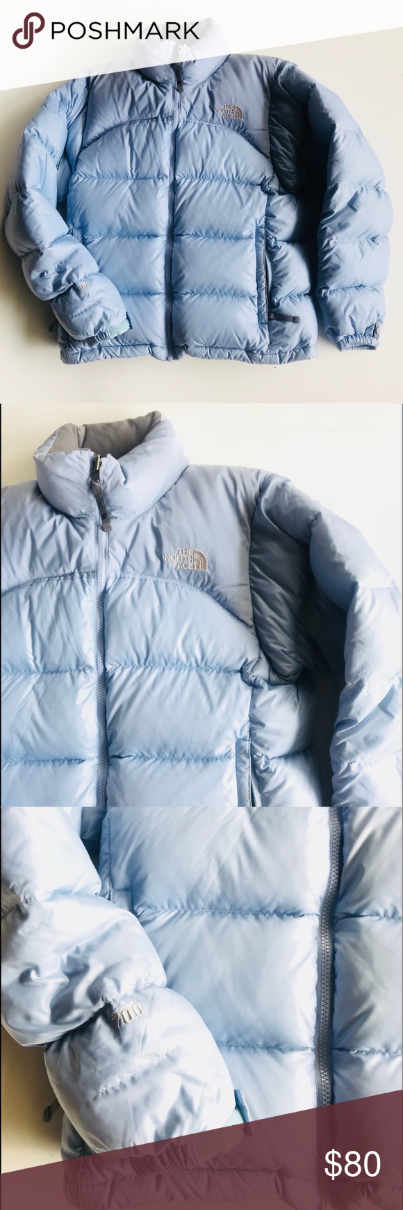 The North Face Nuptse 700 Fill Puffer Goose Down Baby Blue Jacket Light Blue Jacket North Face Nuptse [ 1740 x 580 Pixel ]