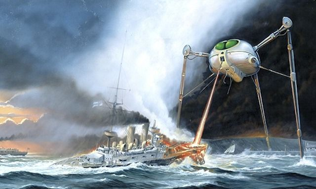 Listen To The Dad Rock Version Of The War Of The Worlds War Of The Worlds Album Cover Art Album Covers
