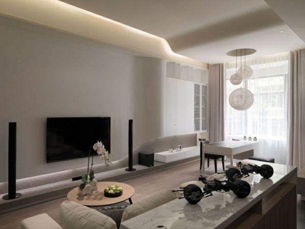 Wohnzimmer Beleuchtung Ideen Helle Farbe Weiße Wände | Wohnen | Pinterest | Helle  Farben, Weiße Wände Und Wandfarben Muster