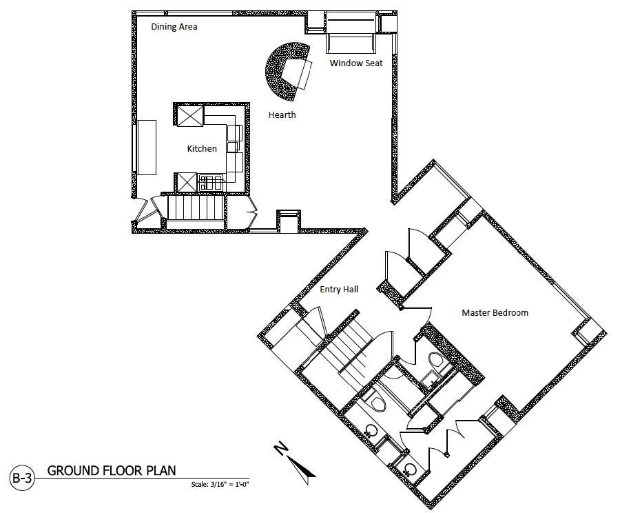 Plans of Architecture (Louis Kahn, Fisher House, 1960-1967 ...