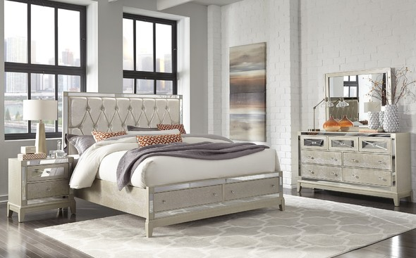 Mirror Champagne Queen Size Bed Champagne Bedroom Bedroom
