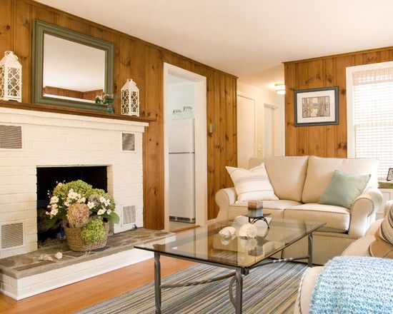 Knotty Pine Paneling Ideas Design Pictures Remodel Decor And Ideas Page 4 Knotty Pine Living Room Knotty Pine Walls White Fireplace