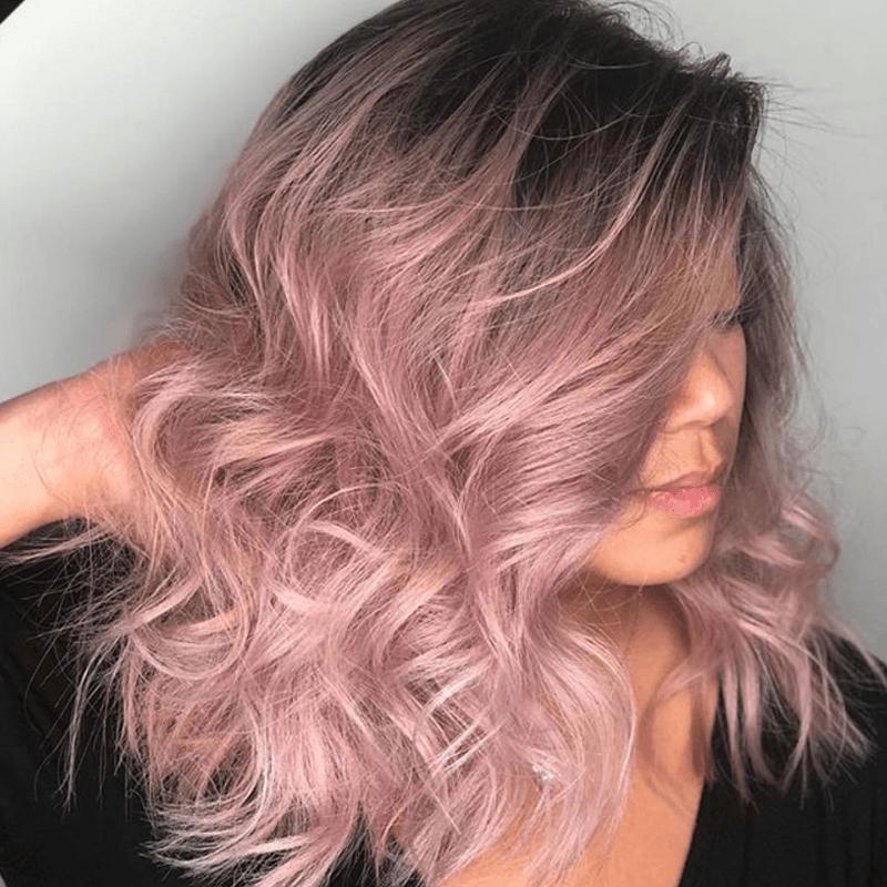14++ Blush blonde hair dye trends