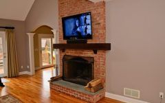 Awesome Mounting Tv Over Brick Fireplace Inspirations