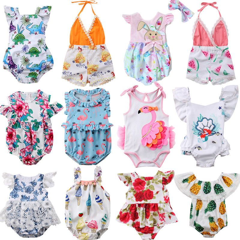 Fashion Newborn Kids Baby Girl Floral Romper Jumpsuit Sunsuit Outfits Clothes US
