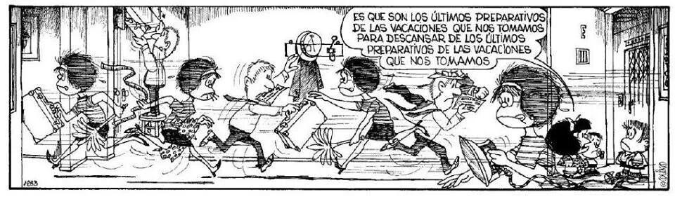 Resultado de imagen de mafalda vacaciones