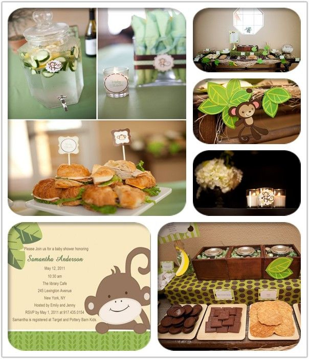 Monkey Invitation For Baby Monkey Theme Baby Shower Ideas And