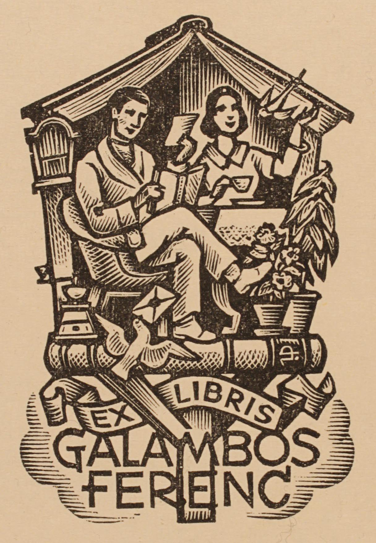 Art-exlibris.net - Exlibris Drahos dal Istvan Galambos Ferenc | ex ...