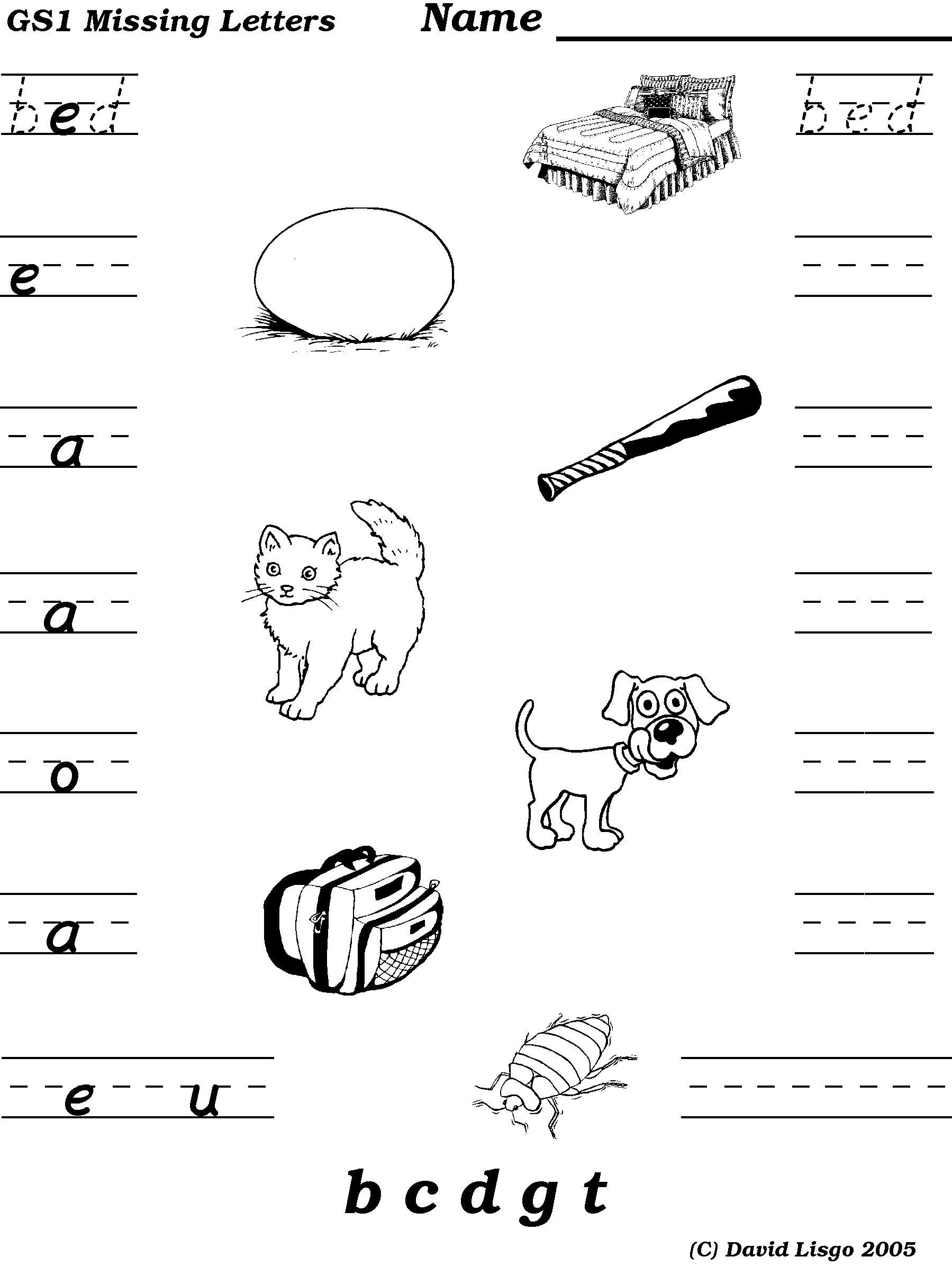 Missing Letters Worksheet A To Z In