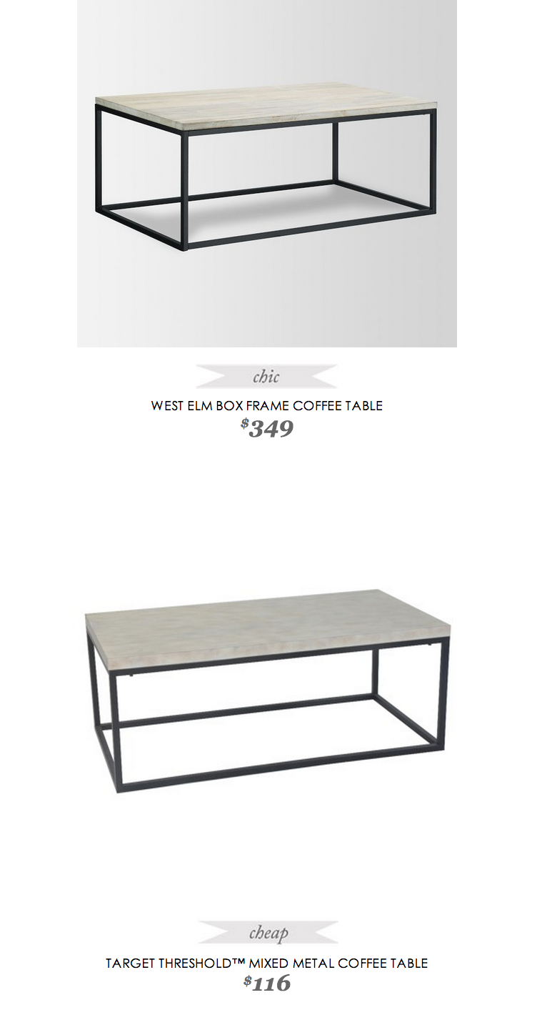 West Elm Box Frame Coffee Table Target Coffee Table Living Room