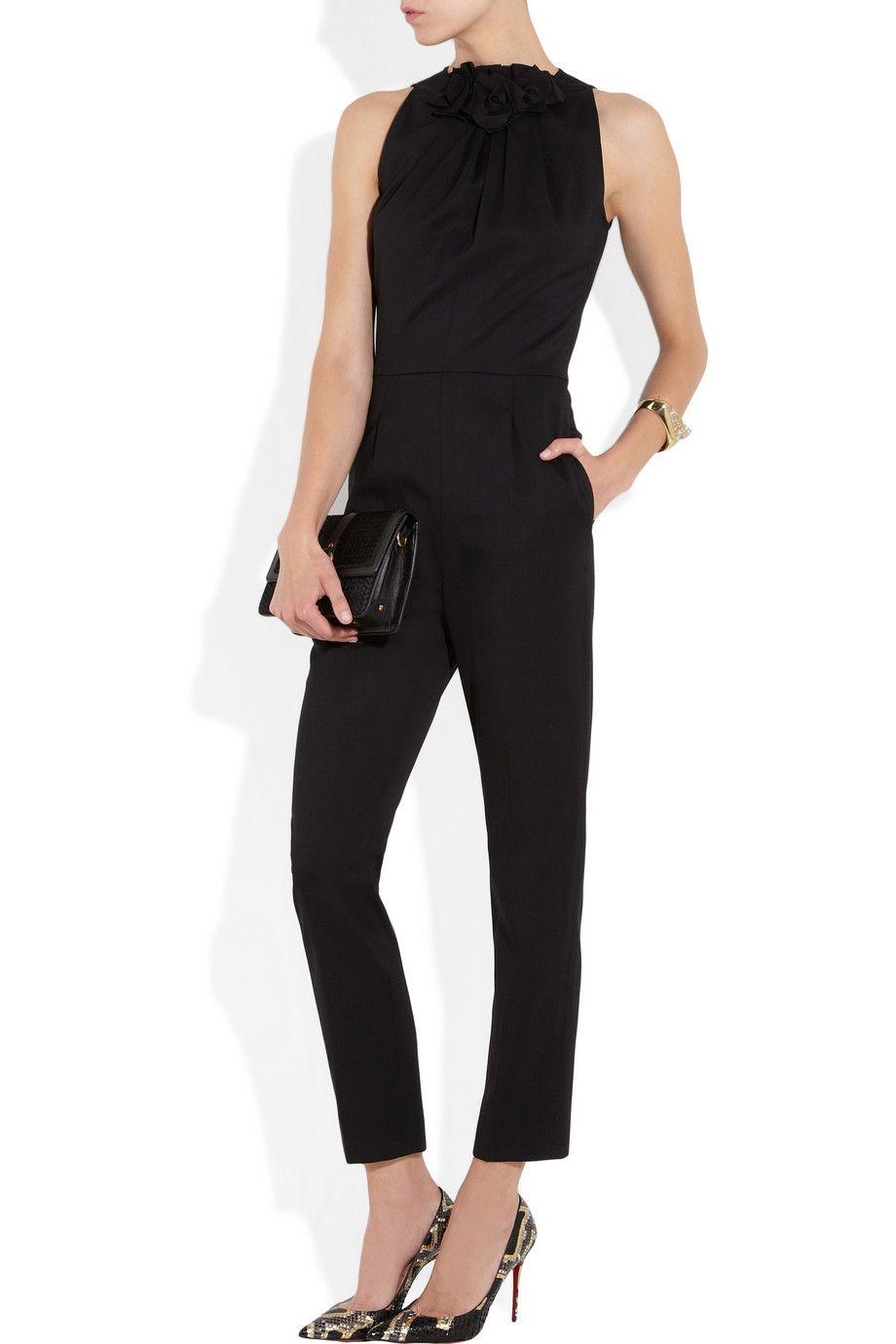 Valentino jumpsuit, Chloé cuff, Maiyet bag, Christian Louboutin pumps