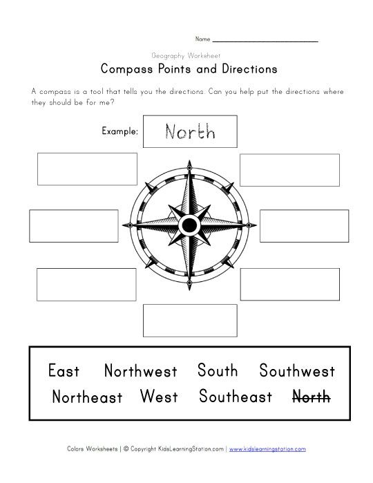 compass and directions worksheet learning stuff pinterest compass worksheets and school. Black Bedroom Furniture Sets. Home Design Ideas