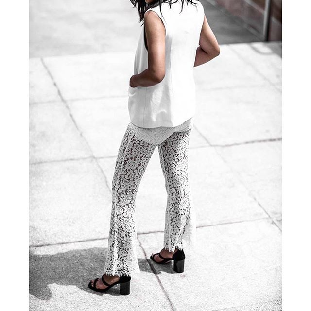 @ beigerenegade wears our Let It Happen Lace Flares : available now at BNKR