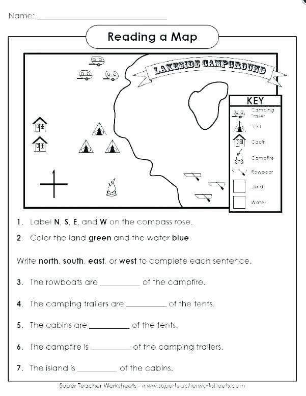1st Grade Map Skills Worksheets in 2020 (With images ...